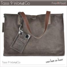 Leather XL BAG Work&Go www.pimpsandpearls.nl