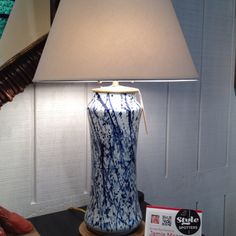 This updated take on a classic blue and white lamp at Beeline Homes was a favorite of Style Spotter Jamie Meares Blue And White Lamp, Best Scale, Clean Sheets, Family Crafts, Window Shopping, White Patterns, High Point, Lamp Light, Lanterns