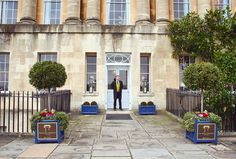 Had a lovely chat with this doorman from Would love to have afternoon tea here! Afternoon Tea, Sidewalk, Bath, Mansions, House Styles, Instagram Posts, Home Decor, Luxury Houses, Interior Design