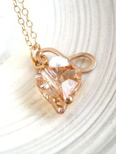 OMG I Love this!!  Gift for her Infinity Necklace heart Hammered gold