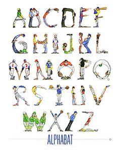 Alphabet baseball poster