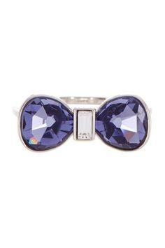 Swarovski Timid Bow Ring - Size 8.25