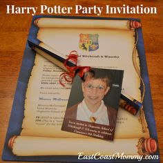 DIY Harry Potter Invitation... seriously cute!
