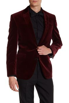 Two Button Notch Lapel Velvet Wool Sport Coat by Kenneth Cole New York on @HauteLook