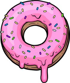 quot N sse f r Donuts quot Aufkleber von dedfox - The world's most private search engine Cute Food Drawings, Cute Kawaii Drawings, Cartoon Drawings, Food Drawing Easy, Printable Stickers, Cute Stickers, Donut Drawing, Images Kawaii, Kawaii Doodles