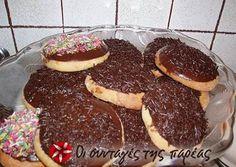 Oven Donuts (in greek) Greek Sweets, Greek Desserts, Greek Recipes, Breakfast Pancakes, Breakfast Recipes, Sweets Recipes, Cooking Recipes, Sweet And Salty, Sweet Sweet