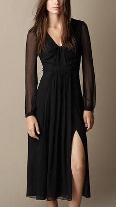 Burberry Brit Silk Crépon Dress. Only no slit.