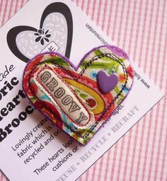 My new range of vintage inspired textile heart brooches have been put together in delicious combinations of fabric, felt, beads & buttons.  The hearts would make a wonderful Valentine gift.