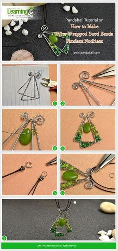 Pandahall Tutorial on How to Make Wire Wrapped Seed Beads Pendant Necklace from LC.Pandahall.com | Jewelry Making Tutorials & Tips 2 | Pinterest by Jersica