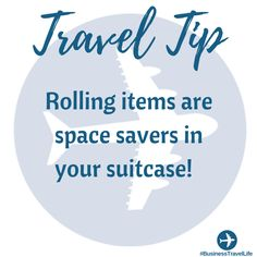 Travel Tip: Save more space during packing by rolling your clothes.