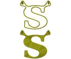 Shrek logo aplique & full stich machine embroidery design for instant download