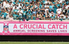 A Crucial Catch -- the NFL campaign to promote Breast Cancer Awareness Health And Wellness, Health Care, National Football League, Breast Cancer Awareness, Nfl, Pink, Campaign, American, Sports