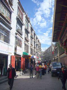 Street in Lhasa.
