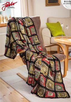 Bilderesultat for stickad patchwork Chrochet, Crochet Granny, Knit Crochet, Granny Square Blanket, Granny Squares, Knitted Blankets, Color Inspiration, Pillows, Sewing