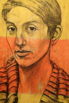 Vincenzo Amato's Portraits on Plywood are so beautiful!