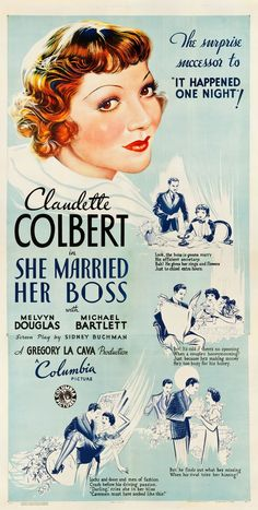 She Married Her Boss (1935) Claudette Colbert, Melvyn Douglas