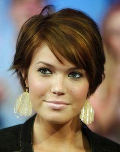 cortes pelo corto mujeres 40 años cara redonda
