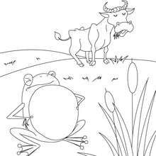 the frog that wished to be as big as the ox coloring page