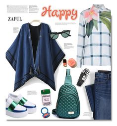 """""""Zaful.com: Happy!"""" by hamaly ❤ liked on Polyvore featuring Ted Baker, Lands' End, Dsquared2, Ray-Ban, women's clothing, women, female, woman, misses and juniors"""