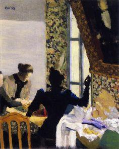 jean-édouard vuillard(1868–1940), the length of thread, 1893. oil on cardboard, 41.6 x 33.3 cm. yale university art gallery, usa