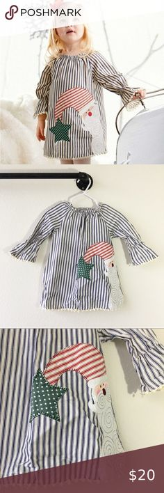 Boys MUD PIE rabbit boutique day gown 0-3 NWT white blue take home outfit Easter