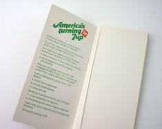 Small Vintage 7up Memo Book, Advertising Memorabilia, Marketing Information Promoting 1978 Ad Campai