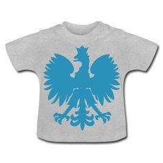 Polska Baby Shirt [Grau/Hellblau/Samtig] - Baby T-Shirt