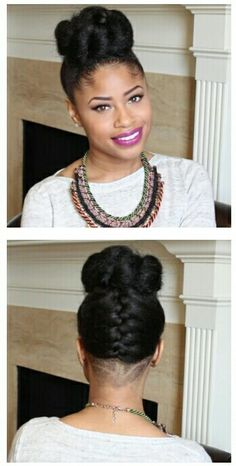 French Braid Into Twisted Bun updo