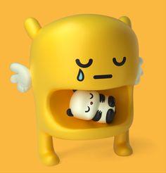 Jouets design jaune art toys