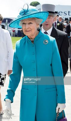 Princess Alexandra arrives on Derby Day at Epsom Racecourse on June 6, 2015 in Epsom, England.  (Photo by Mark Cuthbert/UK Press via Getty Images)