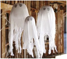Simply Designing with Ashley: PB Knock-Off Hanging Ghosts