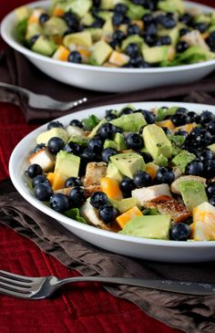 Chicken, Avocado, and Blueberry Salad