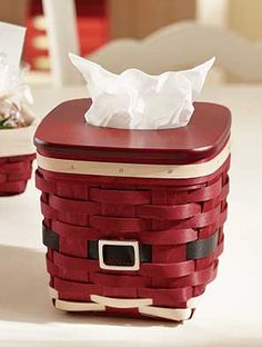 Isn't this the cutest tissue basket for the holidays?  You can order one from me at a special price.