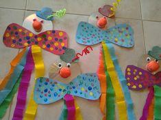 30 idéias para criar com crianças no carnaval - fasching basteln - Clown Crafts, Circus Crafts, Carnival Crafts, Carnival Decorations, Carnival Themes, Preschool Circus, Preschool Crafts, Diy For Kids, Crafts For Kids