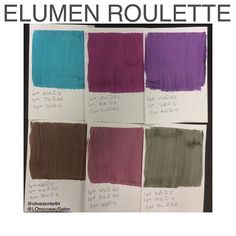 This weeks #elumenroulette brought some gorgeous muted brights and a couple new…