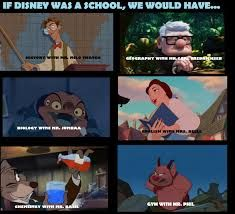 Image result for if disney was a school