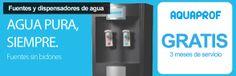Fuentes y dispensadores de agua con Aquaprof - 3 meses totalmente gratis