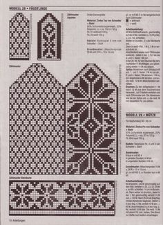 """Photo from album """"Accessoires on Yandex. Knitted Mittens Pattern, Fair Isle Knitting Patterns, Knit Mittens, Knitting Charts, Knitted Gloves, Knitting Stitches, Knitting Needles, Free Knitting, Crochet Patterns"""
