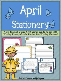 """{FREEBIE}This set of APRIL Upper and Lower Grade themed writing stationery is PERFECT for your writing centers, creative writing lessons, or just """"because"""".    And, since it is FREE, what more could you ask?"""