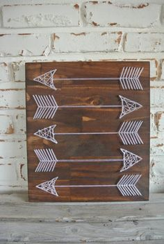 Arrow String Art Aztec String Art Unique String by WoodlandLane