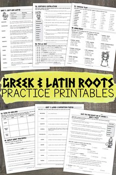 Over 250 pages of Greek and Latin root word work and activities for grades 4-8. Assessments, game cards, and word walls are also included!