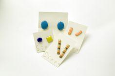 Enamel Jewelry, Resin, Triangle, Stud Earrings, Earrings, Stud Earring