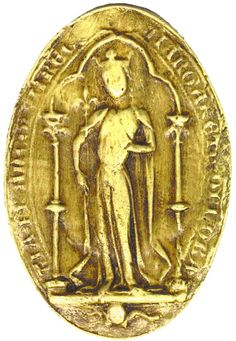 Sceau de la reine Marguerite de Provence.
