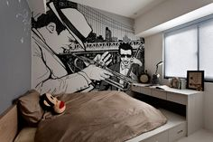 Improvisation Adding Personality to Modern Interiors: City Never Sleeps Wall Murals by Pixers