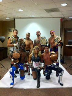 Cody Rhodes, Daniel Bryan, CM Punk, Zack Ryder, Kofi Kingston, Beth Phoenix, & Evan Borne #WWE Champions