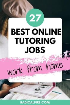 Do you love teaching? Are you looking for a side hustle? If yes, this is for you! Turn your passion into a part-time job. Here are the best sites that offers tutoring jobs online. #onlinejobs #workfromhome
