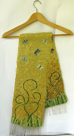 Butterfly Scarf by Marian Shapiro (Her work is SO beautiful!)