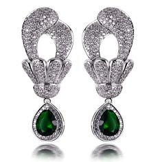 Find More Drop Earrings Information about Platinum Plated&18k Gold Plated Ladies Luxury Dangling Big Drop Party Earrings Emerald Montana Cubic Zircon Silver Pin Lead Free,High Quality pin big,China earring jackets for diamond studs Suppliers, Cheap earrings eyebrow from ASM Fashion Jewelry on Aliexpress.com