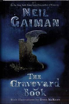 GRAVEYARD BOOK by Neil Gaiman. NEWBERY AWARD WINNER. Illustrated by Dave McKean. Because the first printing was small, it is quite hard to find.
