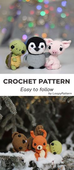 CROCHET toys pdf tutorial by LoopyPattern. How crochet beaver , squirrel pattern Crochet Pattern Free, Crochet Animal Patterns, Stuffed Animal Patterns, Bead Crochet, Cute Crochet, Crochet Animals, Crochet Penguin, Amigurumi Giraffe, Crochet Patterns For Beginners